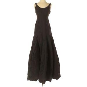 Halston Heritage Black Maxi Silhouette Dress
